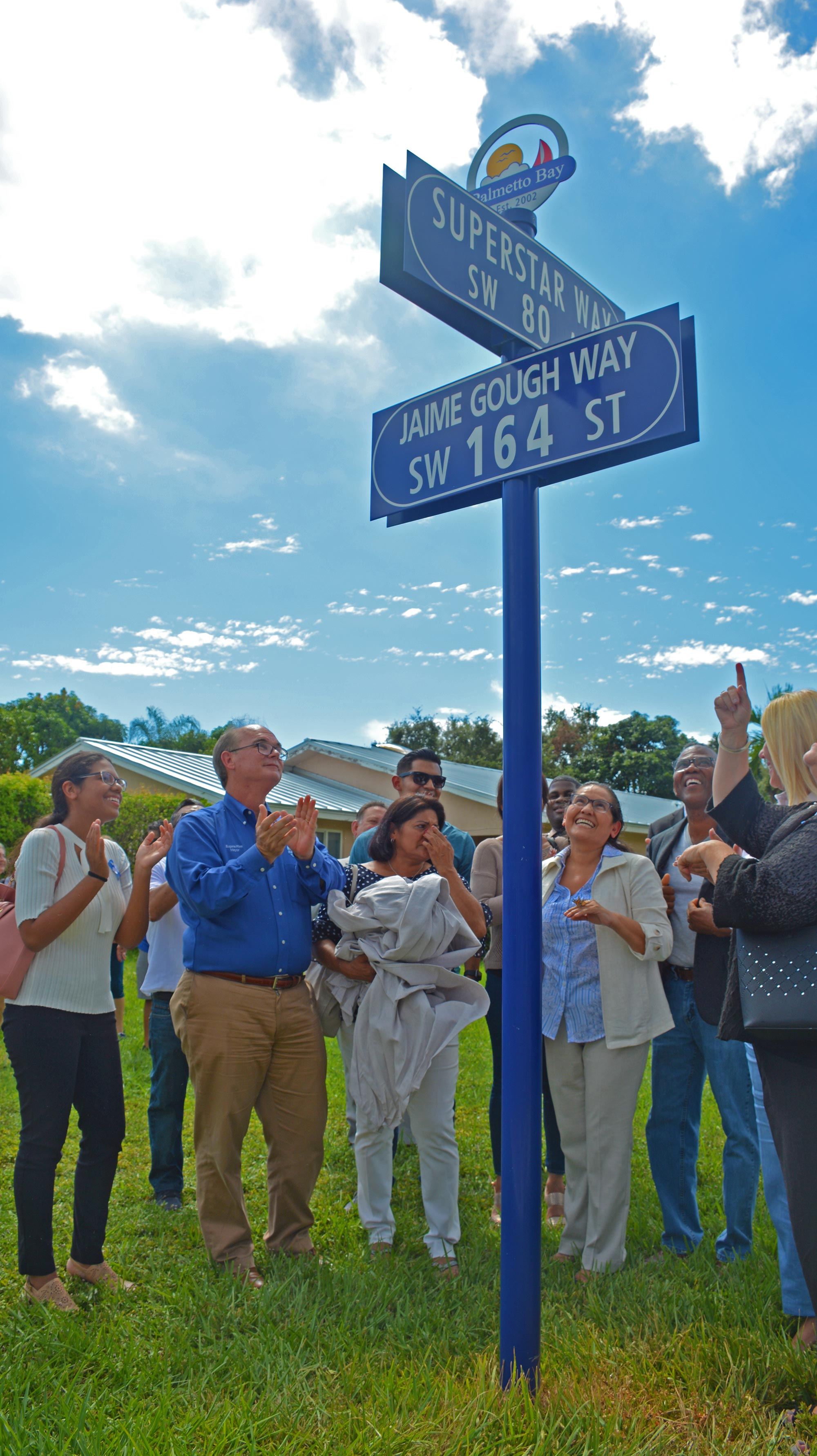 Sign dedication brings tears of joy to family and friends