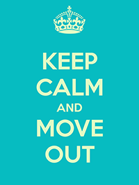 Keep calm and move out. Let your Realtor handle any bumps in the road
