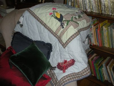 BIRD THEME THROW ADDS A TOUCH OF THE OUTSIDE