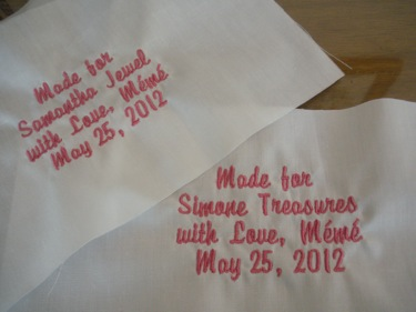 EMBROIDERED QUILT LABELS TO PERSONALIZE QUILTS