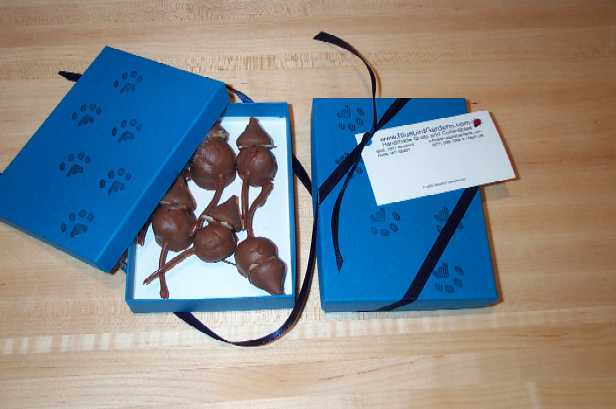 CHOCOLATE MICE MADE FROM CHERRIES AND CHOCOLATE