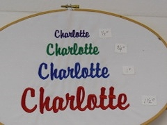 SAMPLE OF MOST POPULAR EMBROIDERY FONT SIZES
