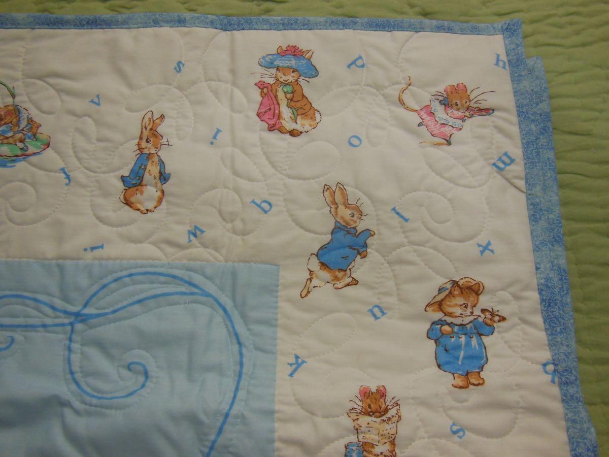 rabbit baby quilt