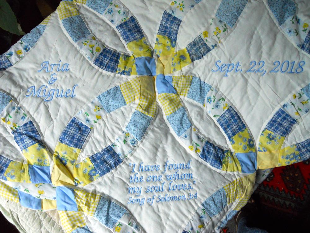 PERSONALIZED SUNNY SKIES THROW FOR A WEDDING GIFT
