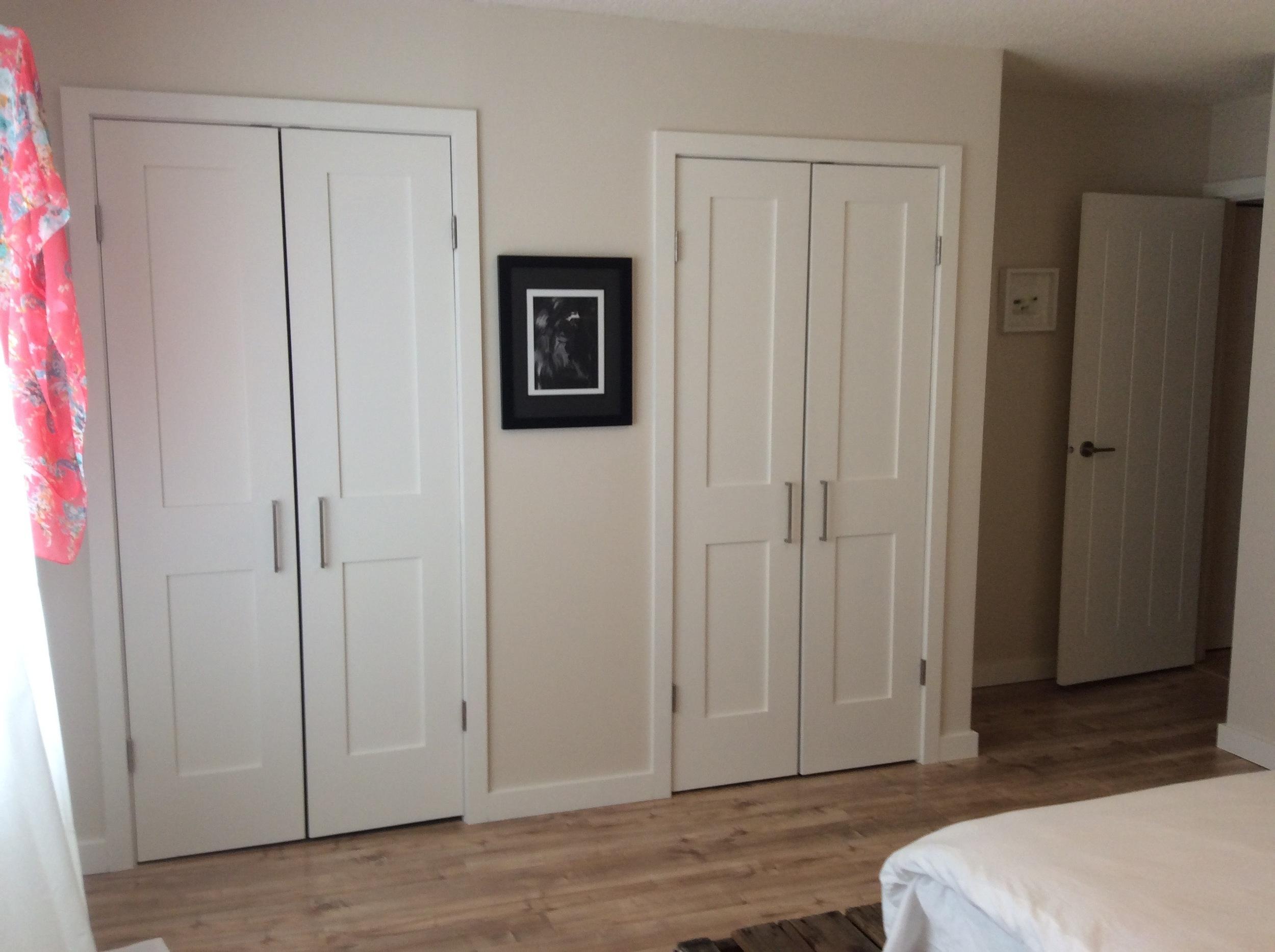 Custom closet doors.