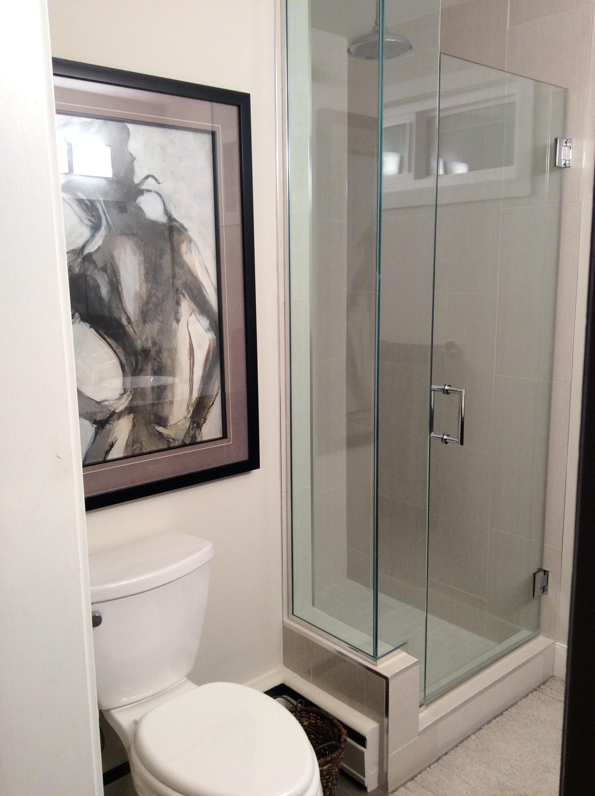 Porcelain custom shower.