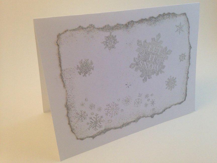 Snowflake Embossed Christmas Card