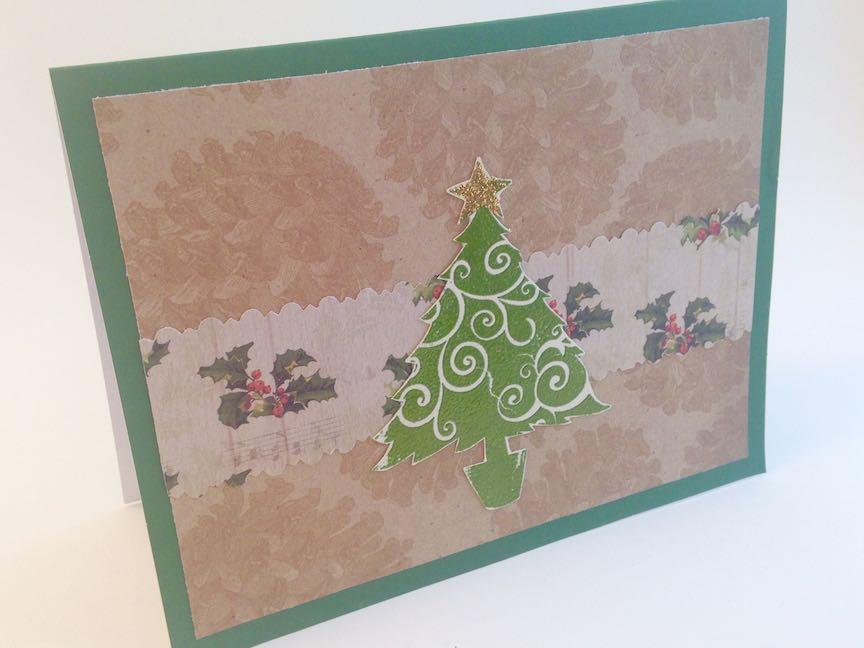 Embossed Tree Christmas Card