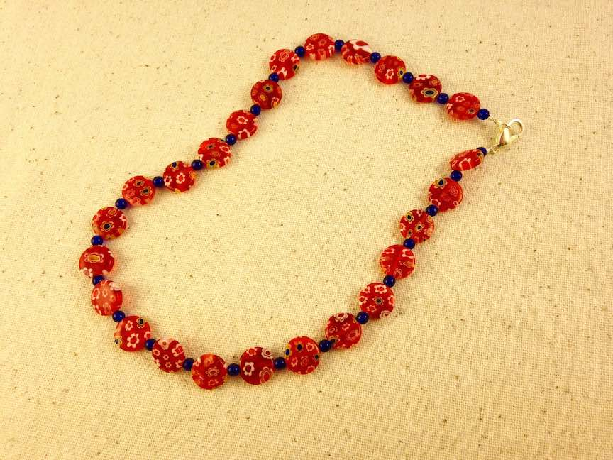 Red Blue Glass Bead Necklace.jpg