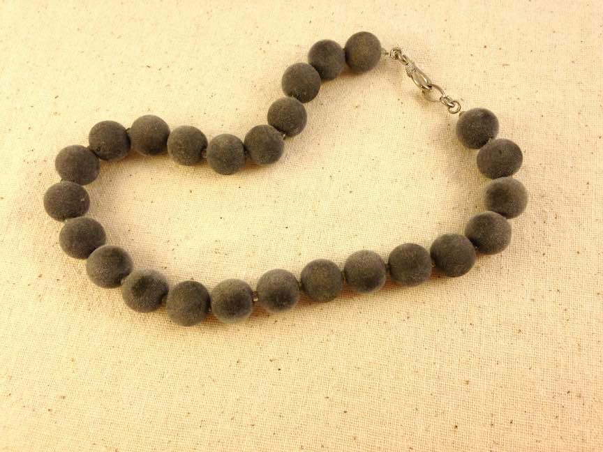 Gray Fuzzy Bead Necklace.jpg