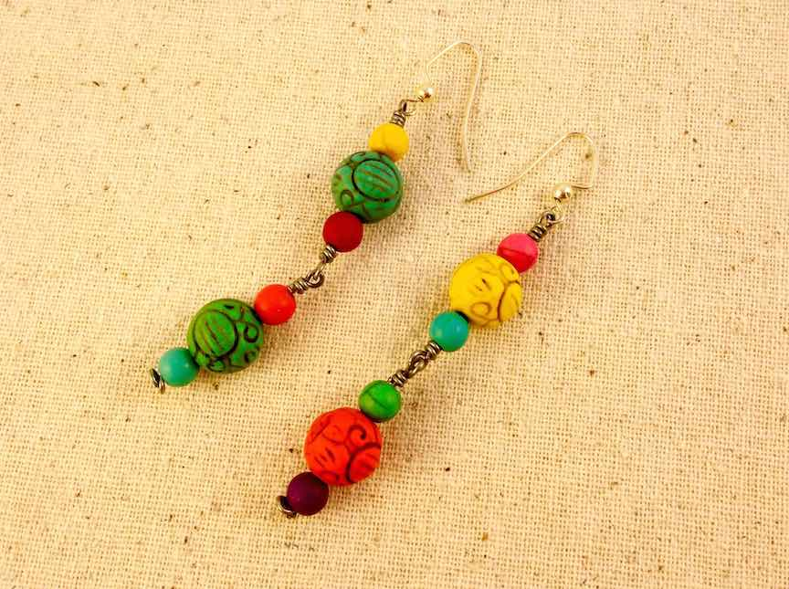 Multicolor Beaded Drop Earrings.jpg