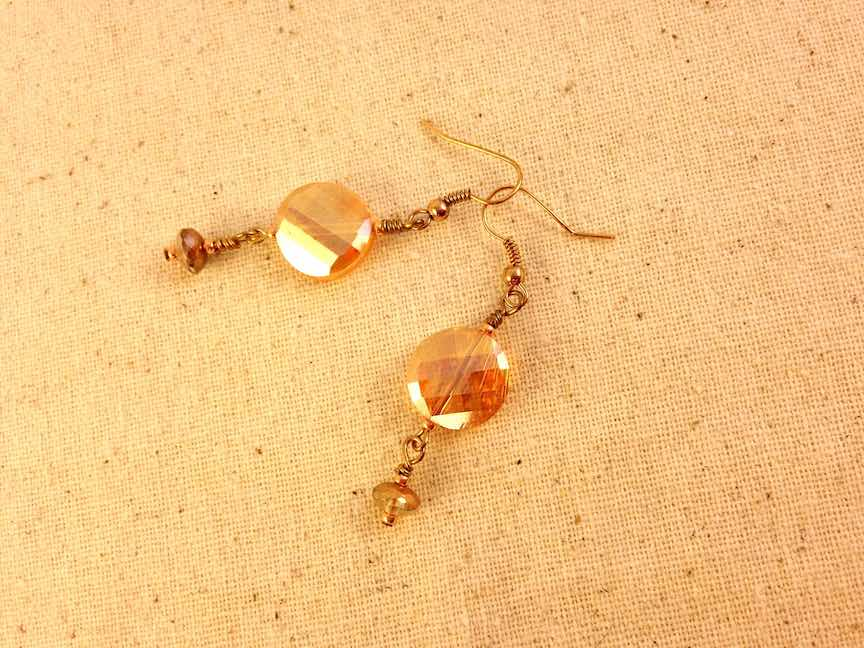 Peach Glass Dangle Earrings.jpg