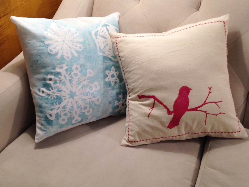 Sew Holiday Pillows -
