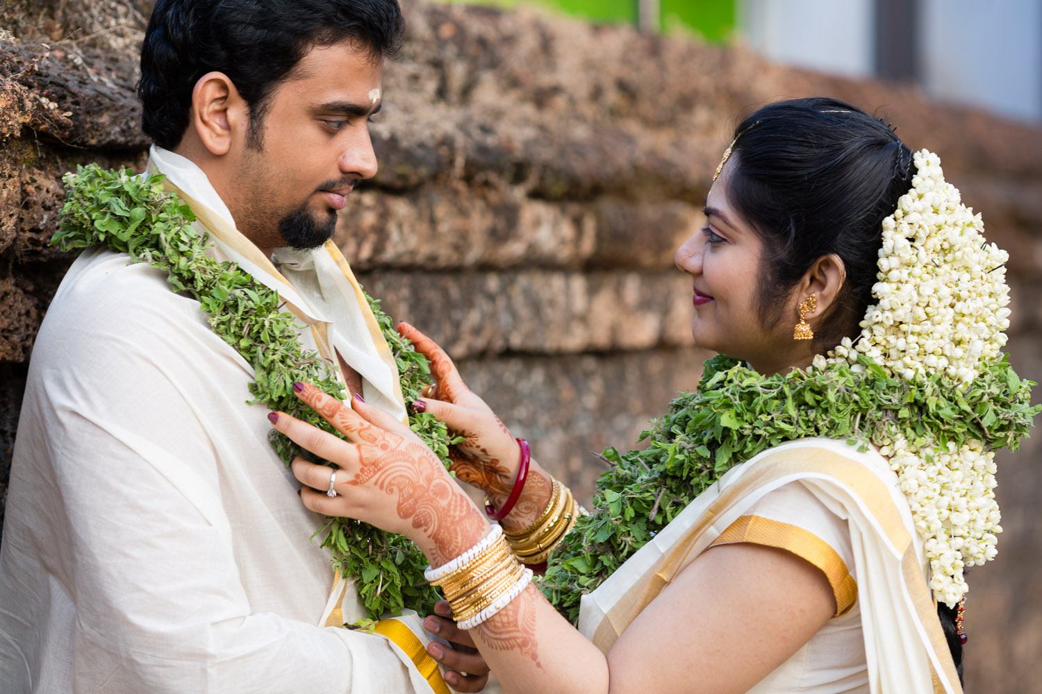 Couple after marriage at Guruvayoor