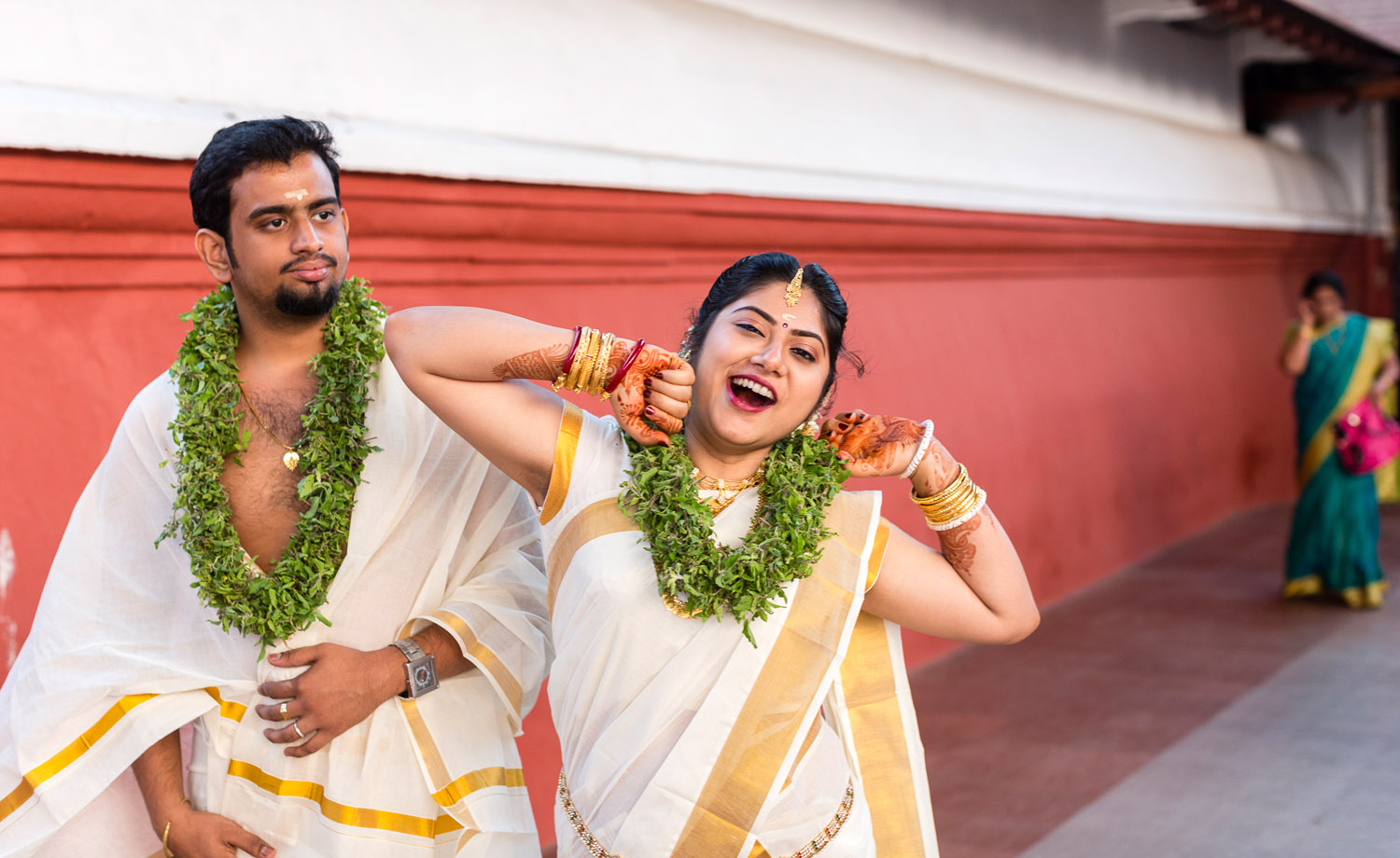 A stretch after the wedding at Guruvayoor.