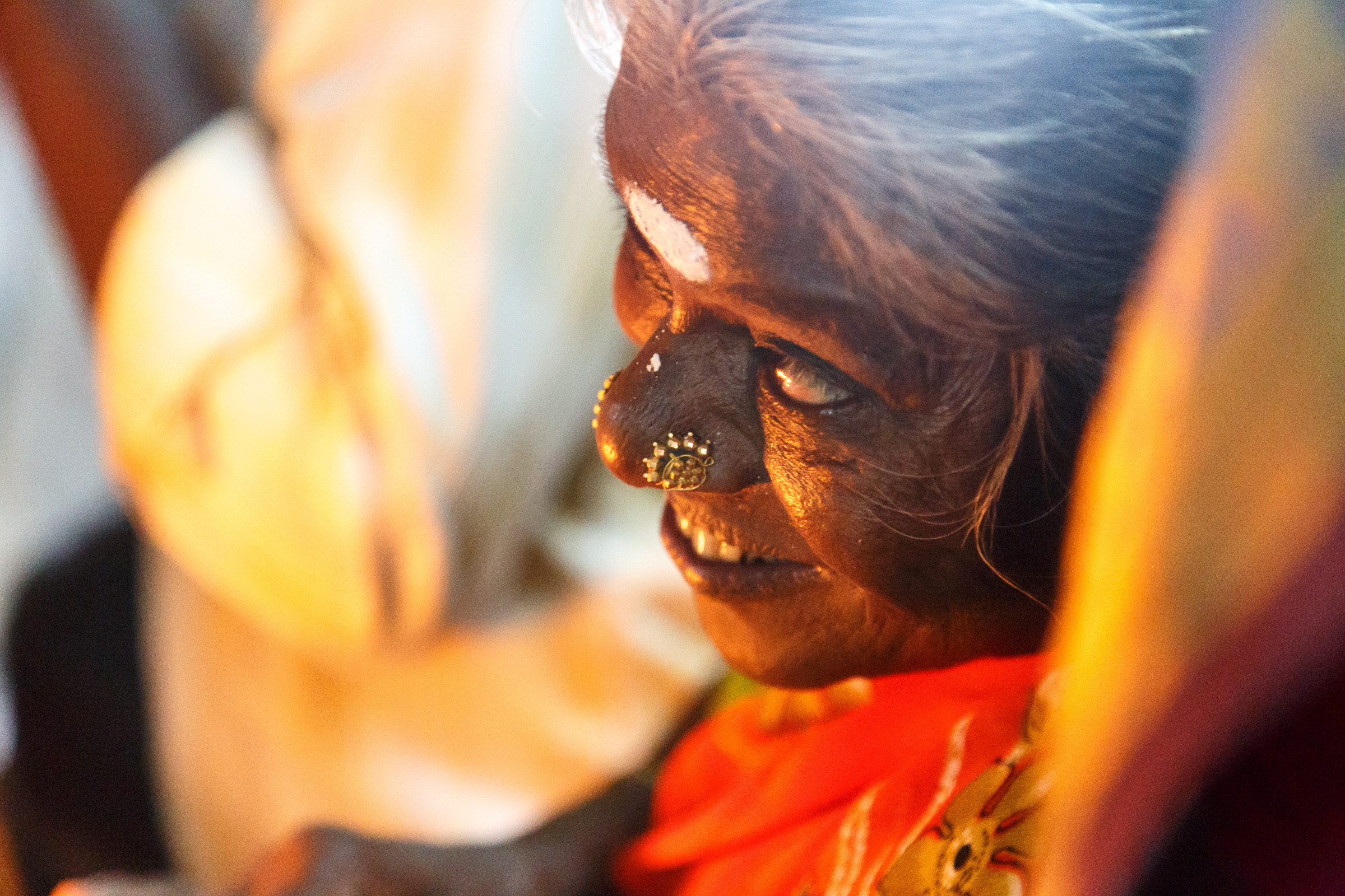 A Devotee's Smile on seeing the diety