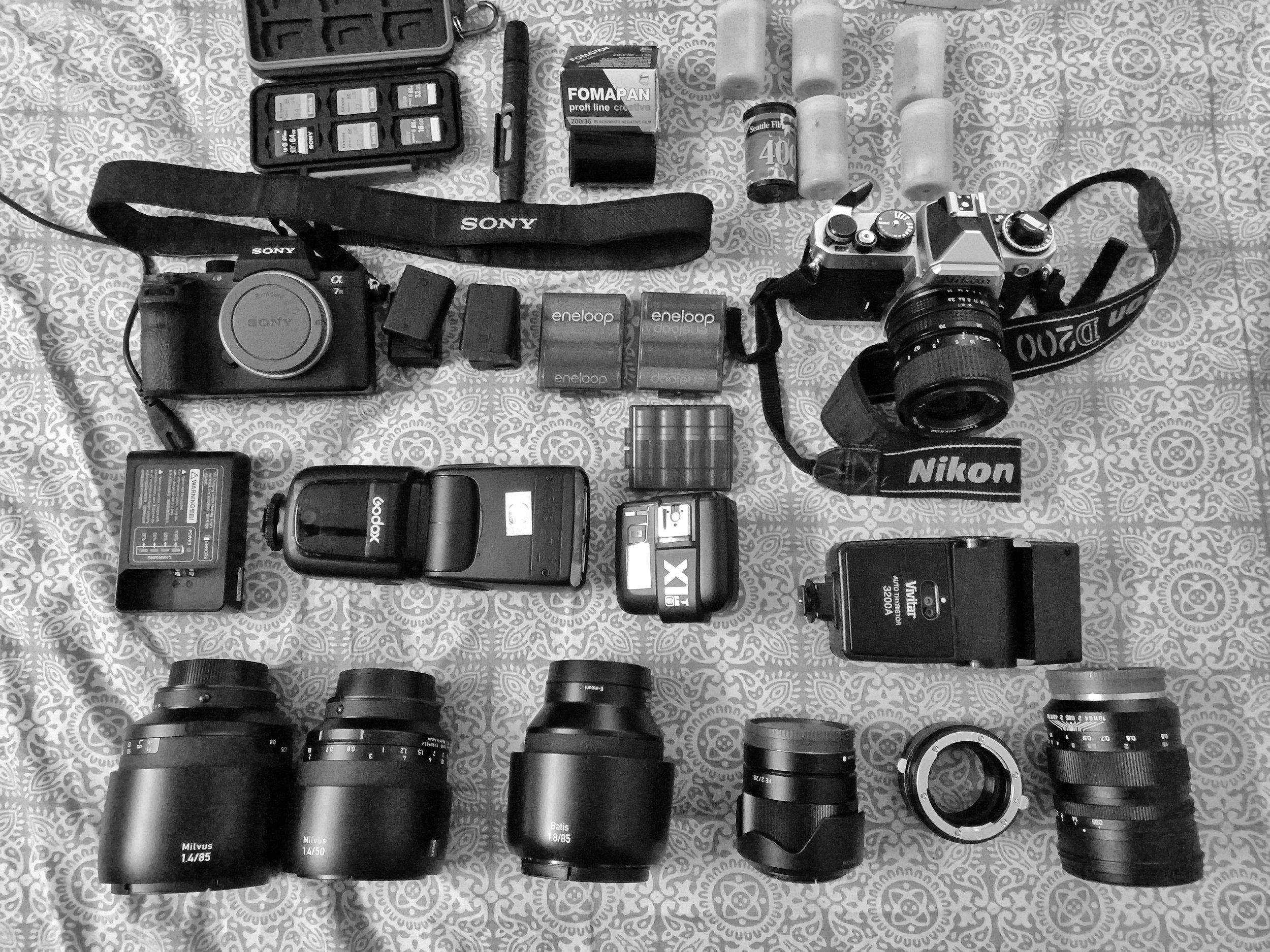 Complete set along with Sony A7R ii