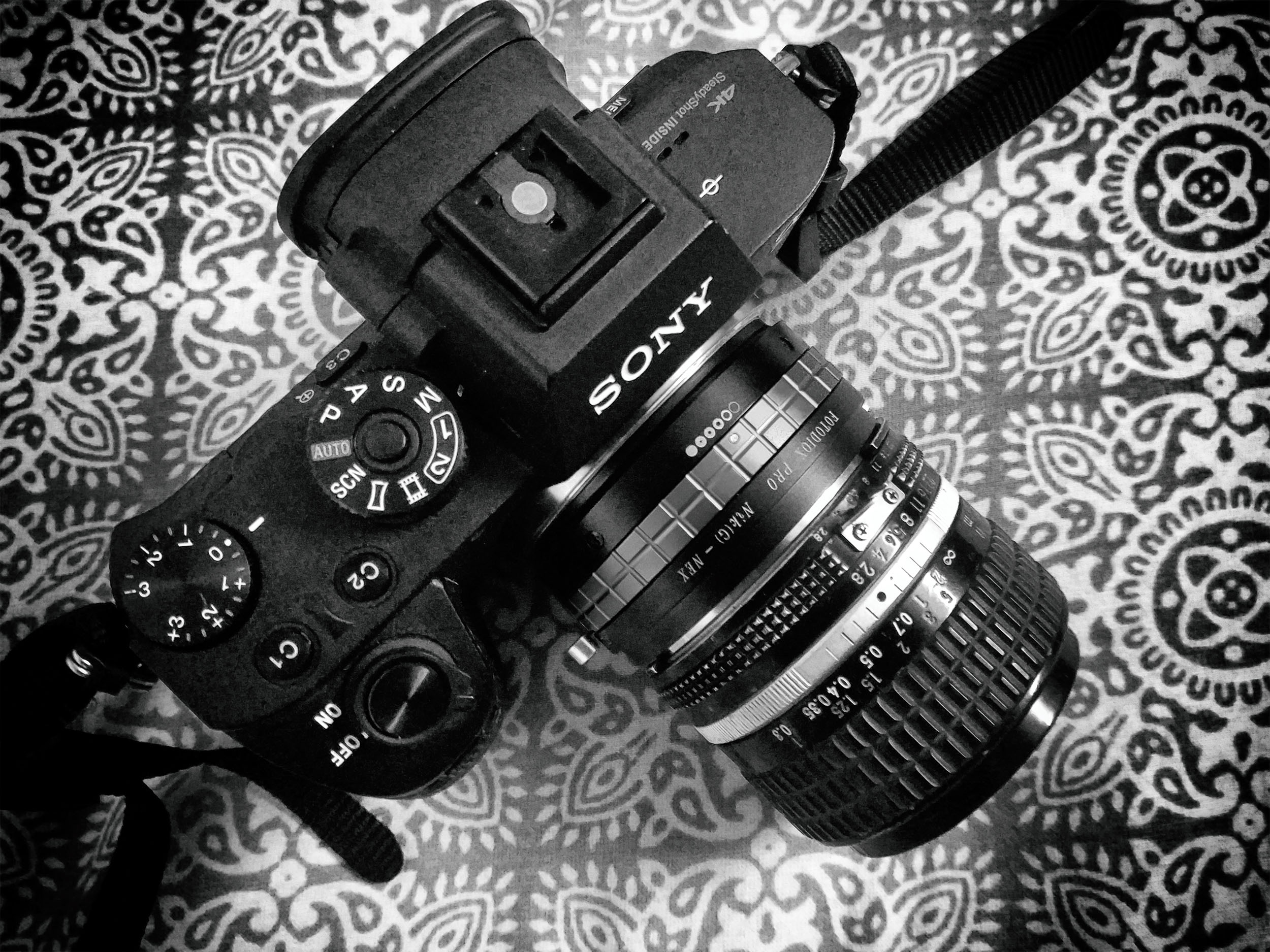 Nikon 24mm f/2.8 AIS lens mounted on Sony A7R II with Fotodiox Nik(G) to NEX adaptor