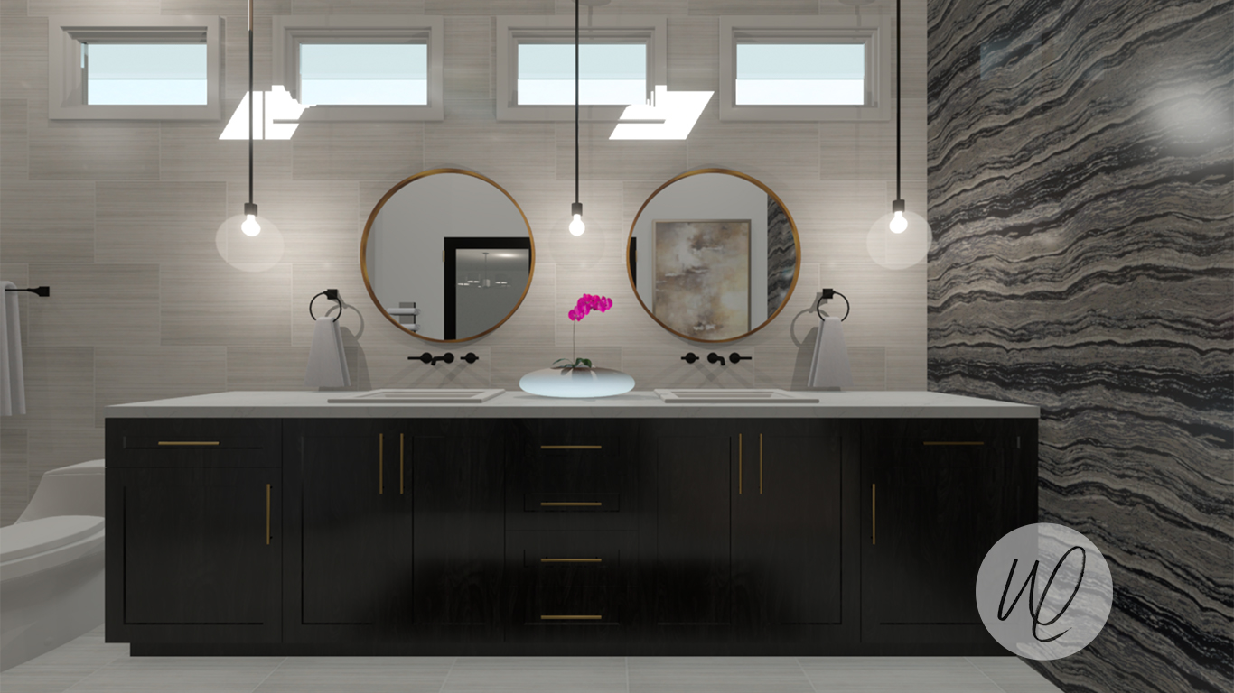 Bathroom Design by Ana Then, White Linen Interiors  Rendered by Ana Then