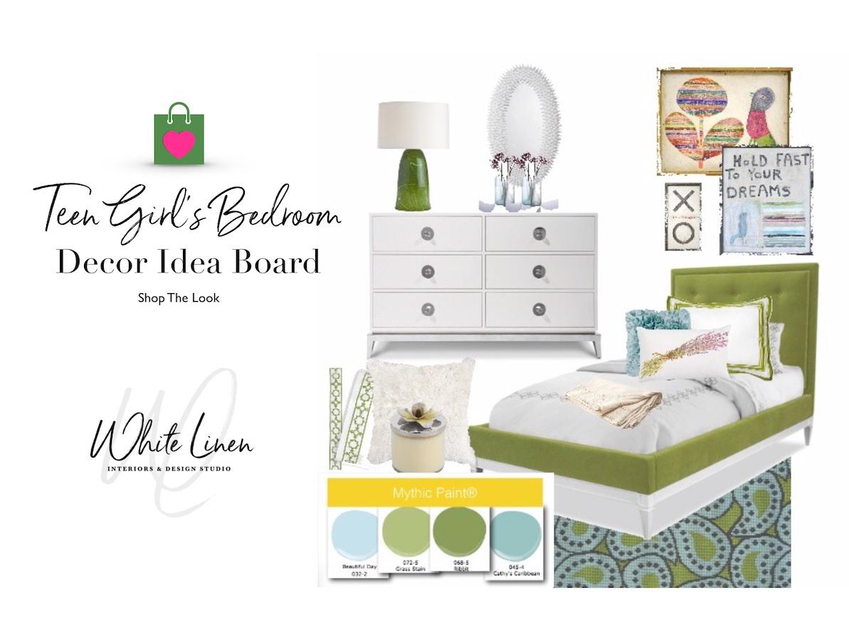 Teen Girl's Bedroom Design Board