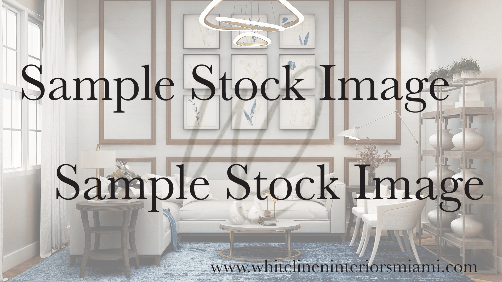 White Linen Interiors Virtual Meeting Background Stock Images
