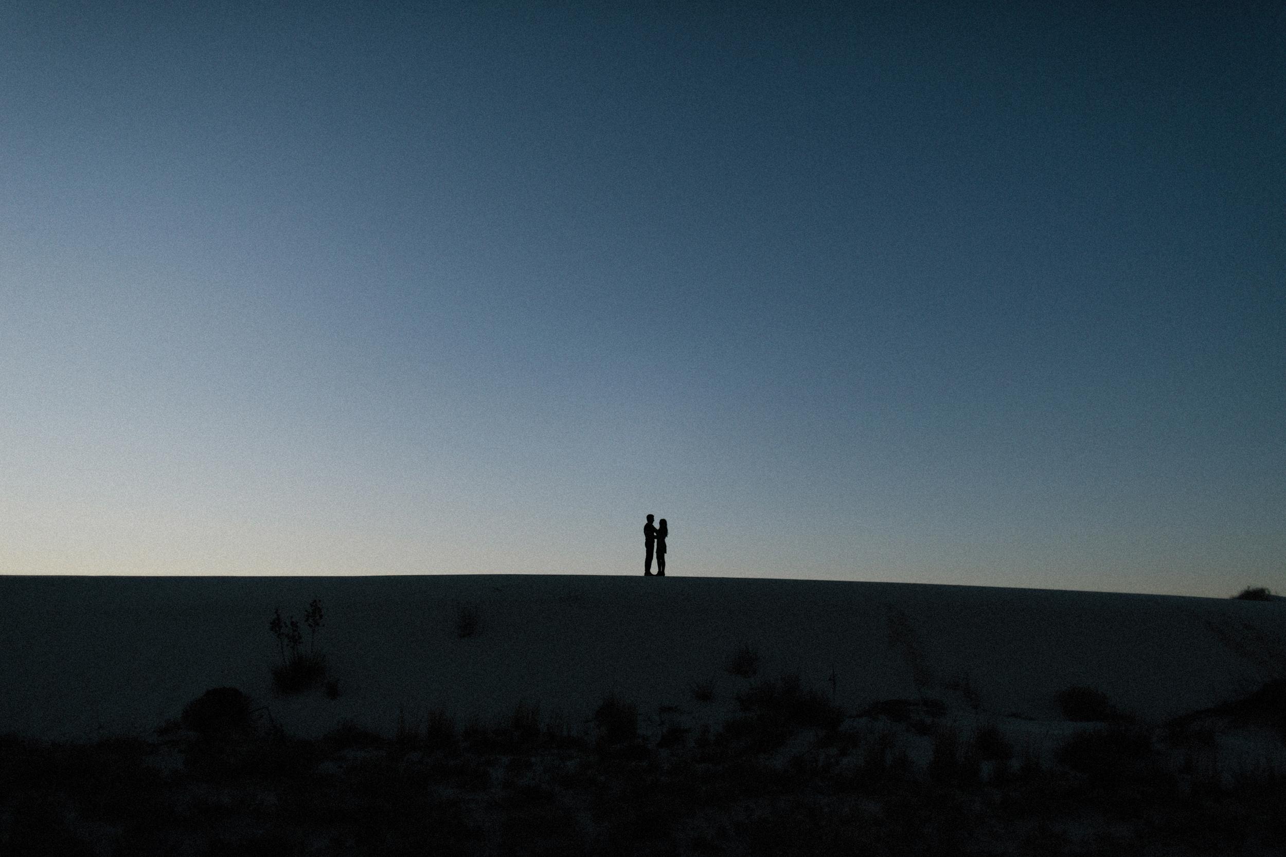 white sands engagement