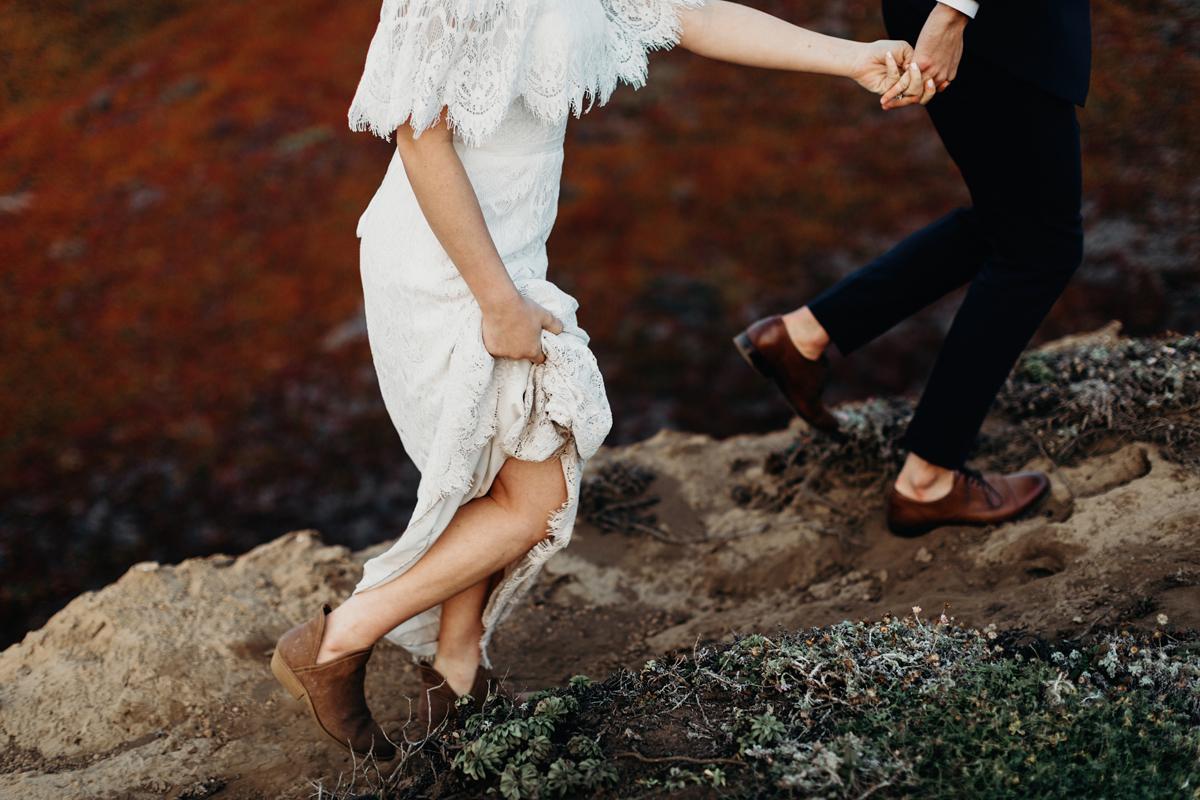 big sur. big sur elopement, intimate wedding, cliff side, califo