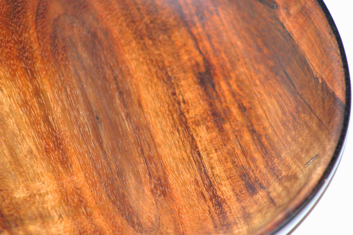 Koa 3 is one of the hand crafted Koa Wood Bowls Welo created showing the center heart of the tree.