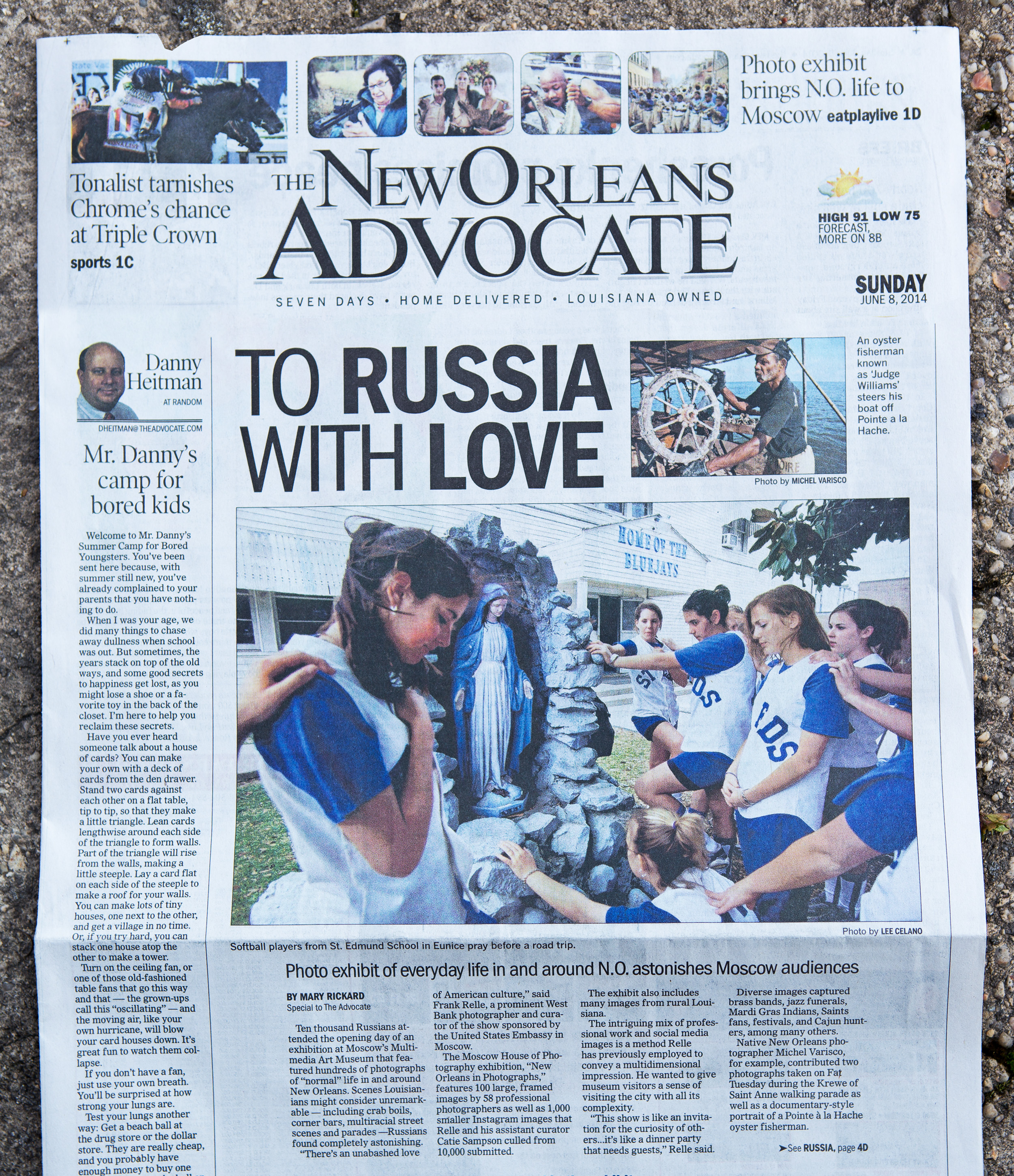 The New Orleans to Moscow Exhibition is in today's paper. Thanks to Mary Rickard and The Advocate for the engaging feature story.