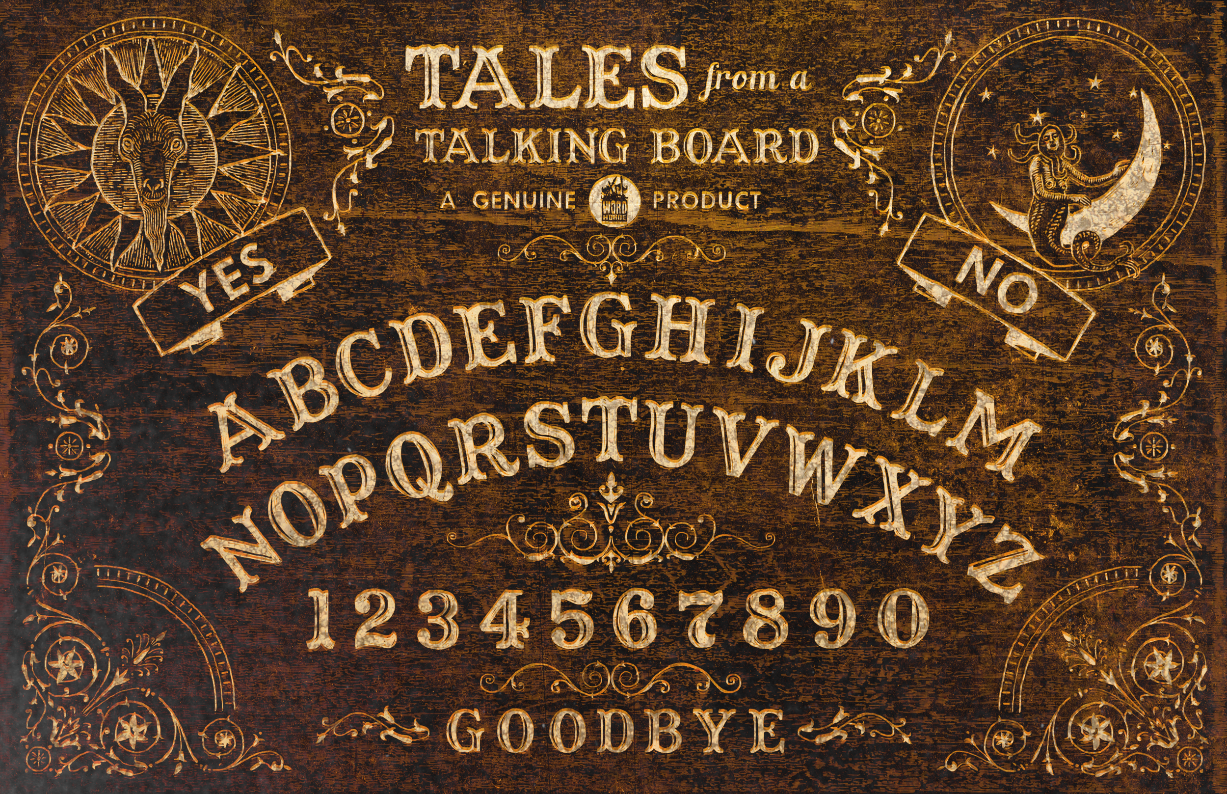 'Tales from a Talking Board' book cover (Word Horde, 2017)