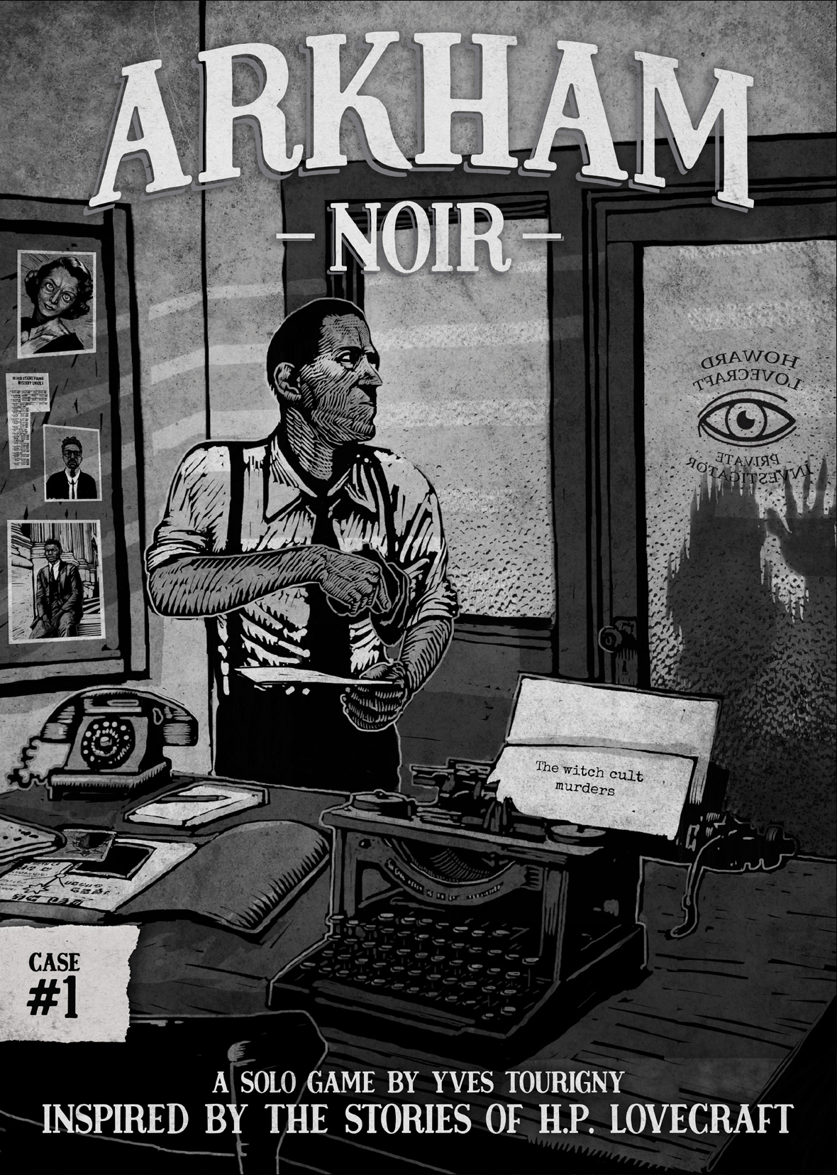 'Arkham Noir' game cover (Ludonova, 2107)