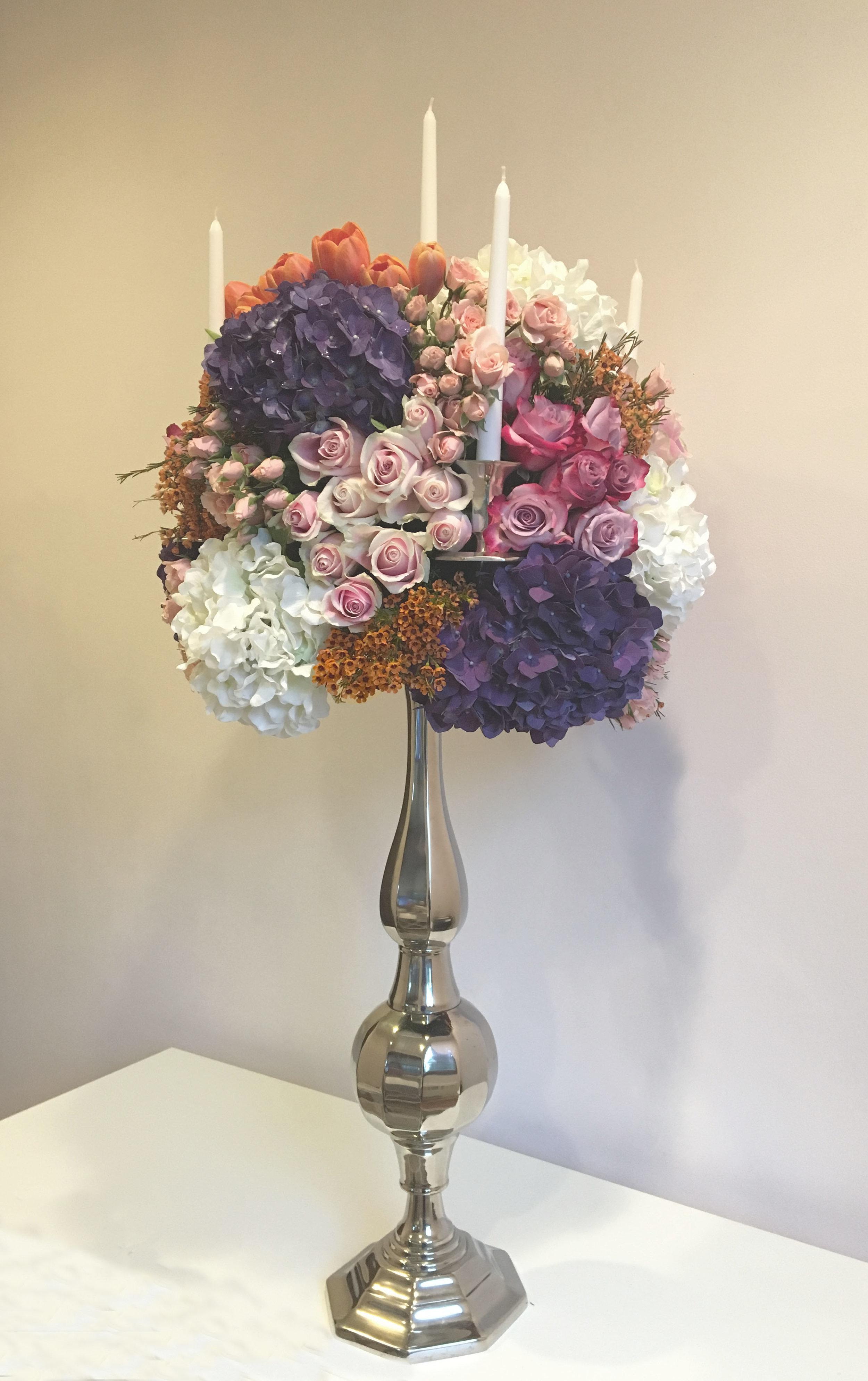 Evelisa Floral & Design: candelabra arrangement
