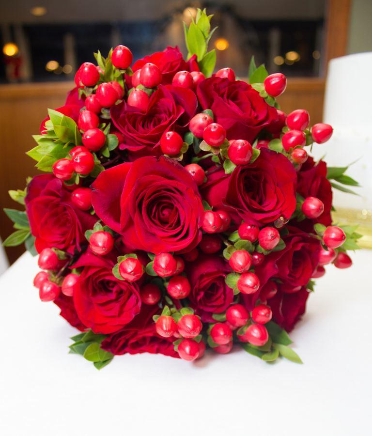 Evelisa Floral & Design: Red Bouquet
