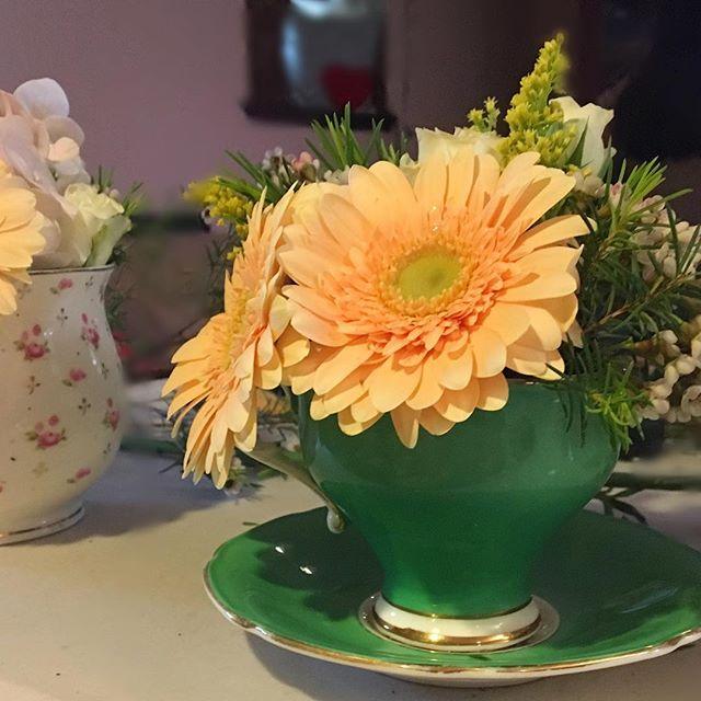 Evelisa Floral & Design: Teacup flower arrangement