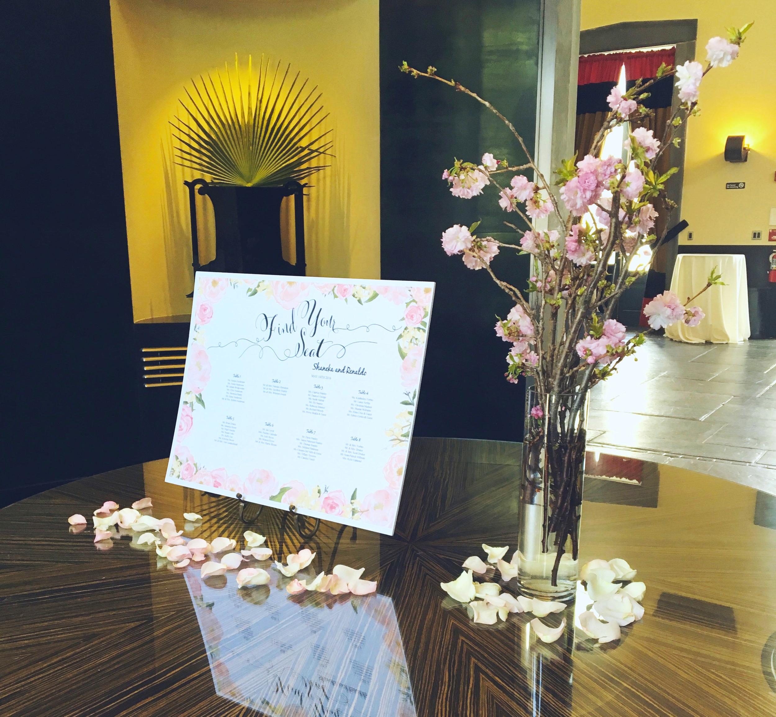 Evelisa Floral & Design: escort card table design