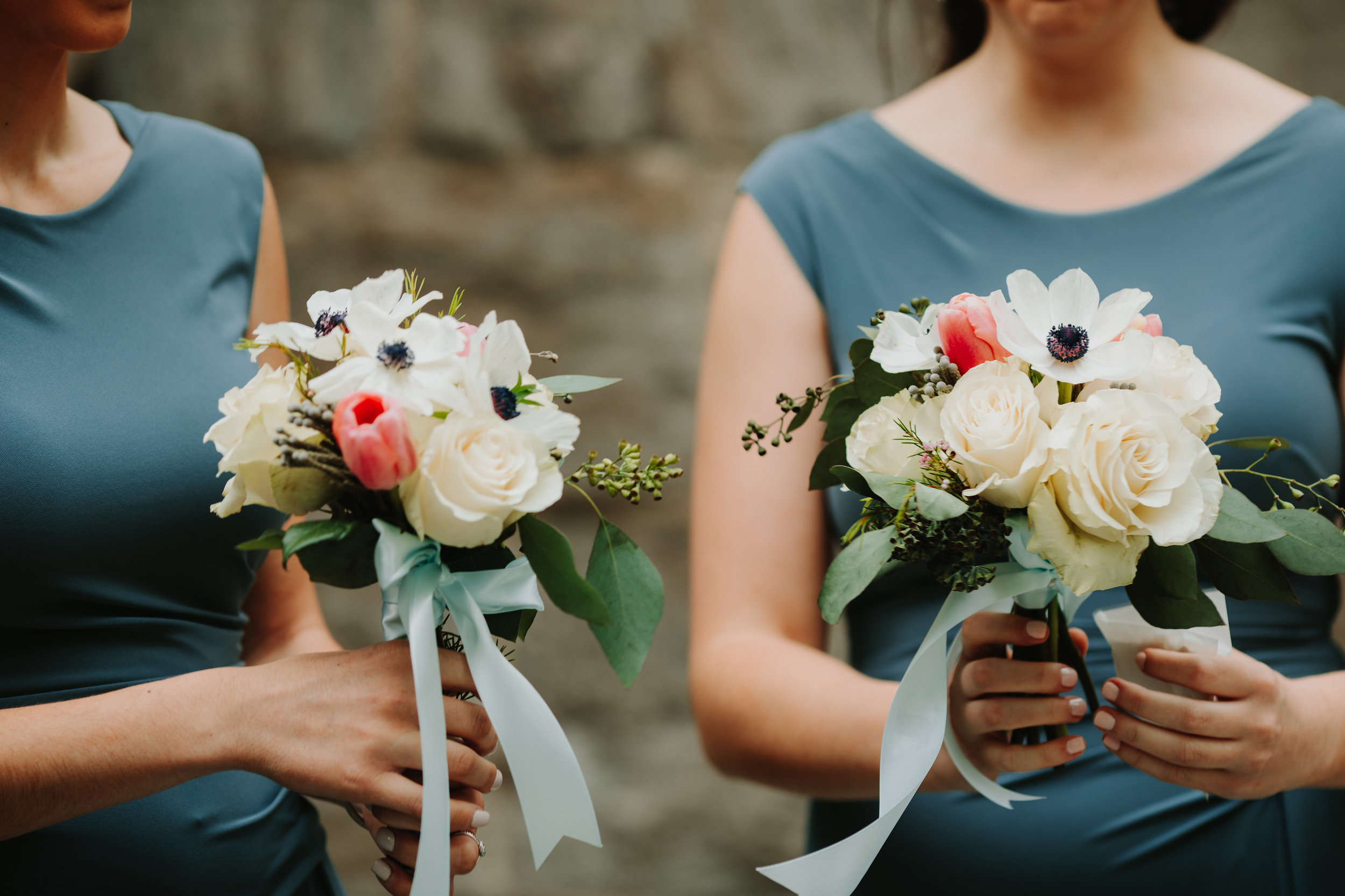 Evelisa Floral & Design | Bridesmaid's bouquets | Anemones