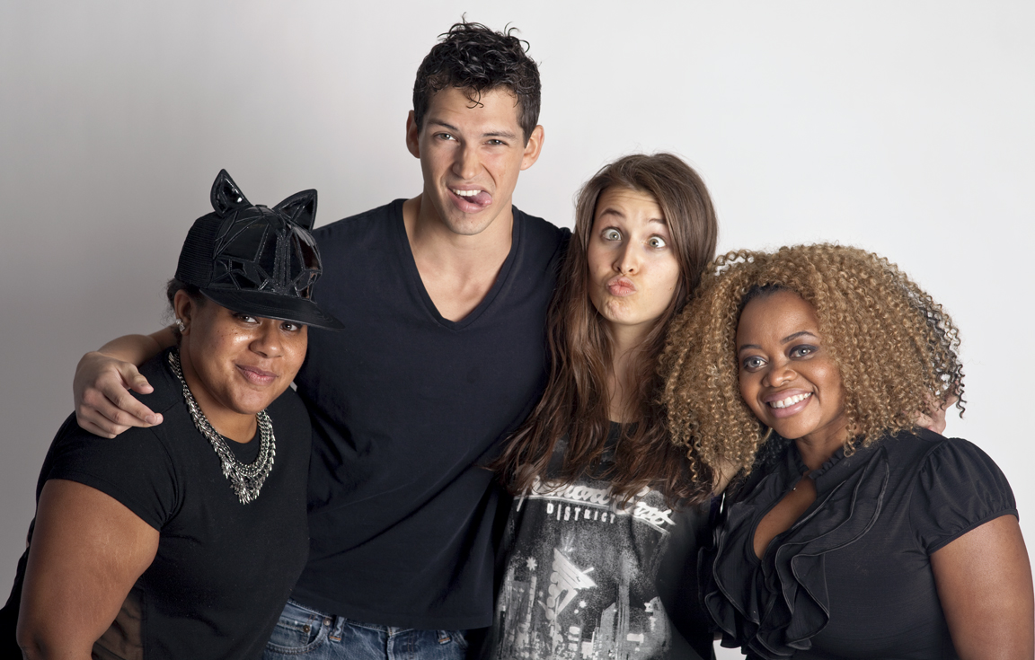 In the studio with moreLA Models talent.
