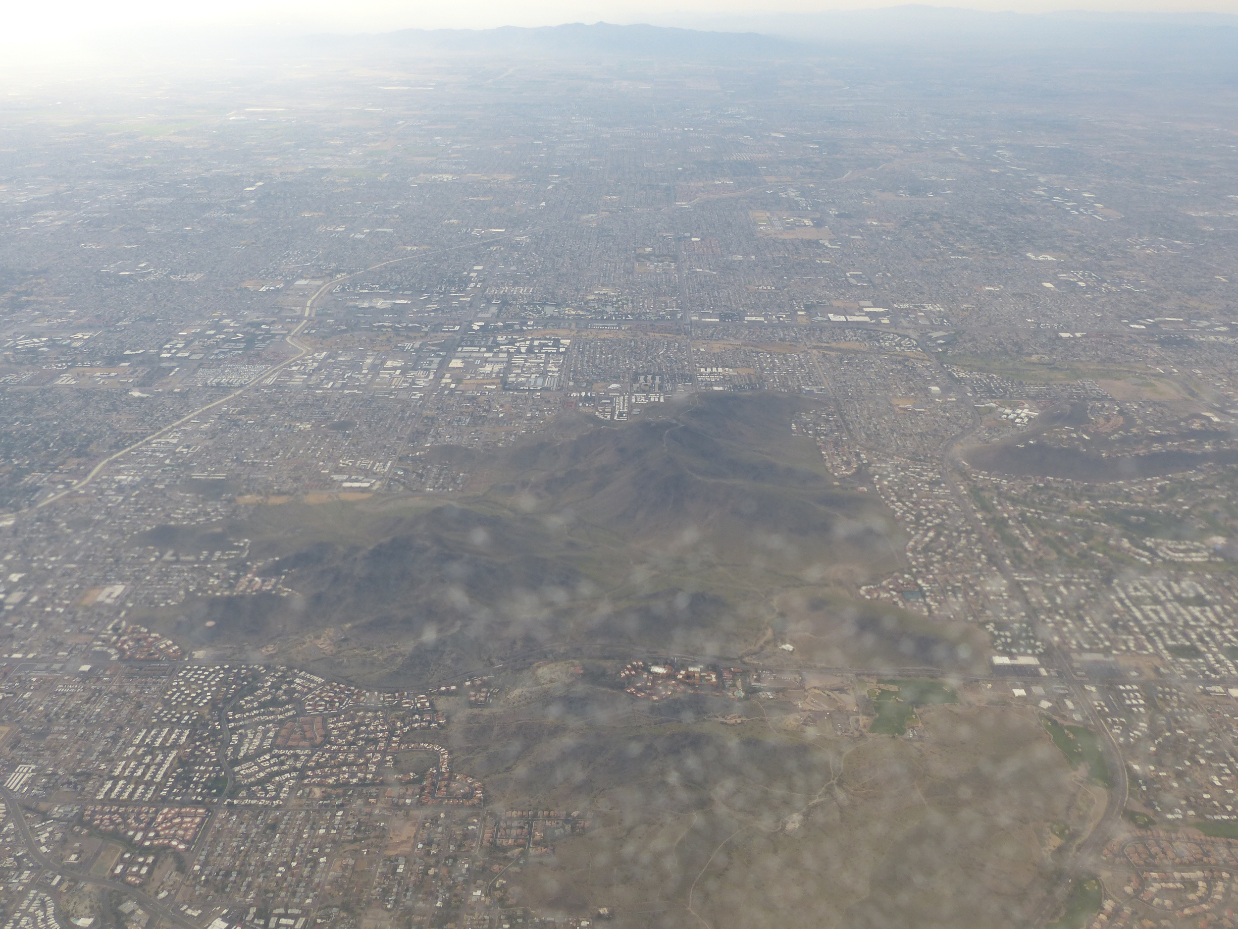 The evidence of population in the Desert Southwest - buildings as far as you can see.
