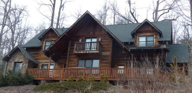 Any home design can use the system. Tim Carter built this log-home design with insulation board wall panels.