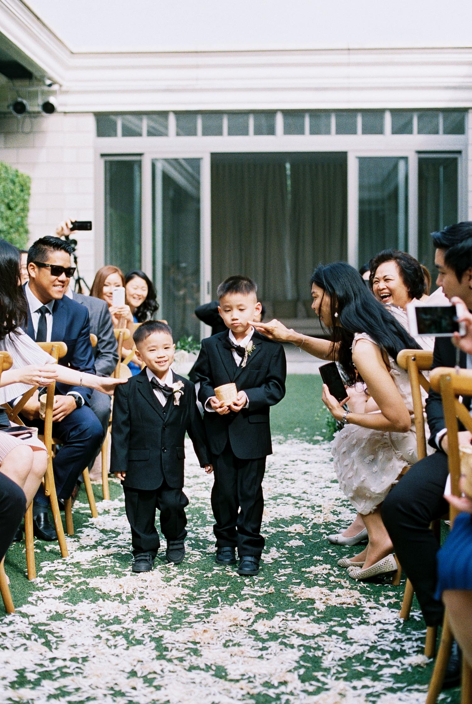 cute asian ring bearers