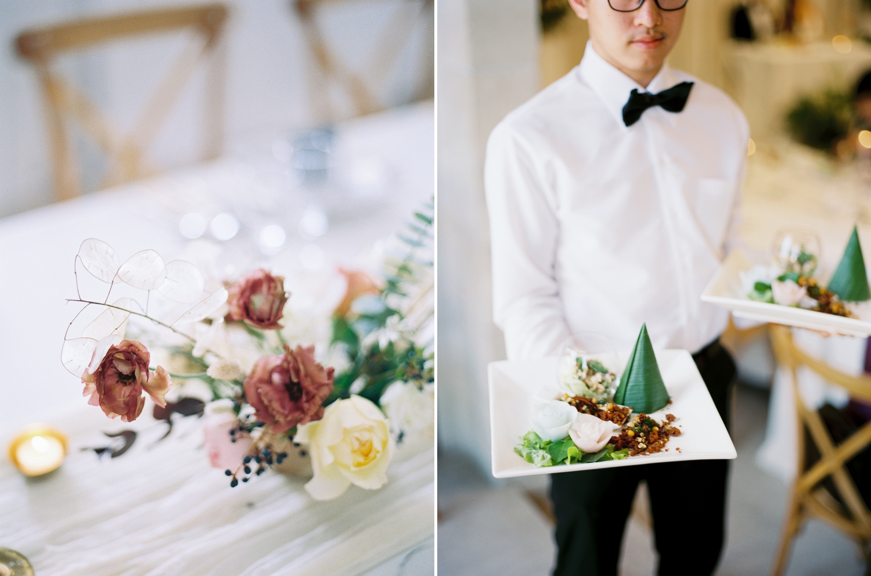 thai food at destination wedding reception