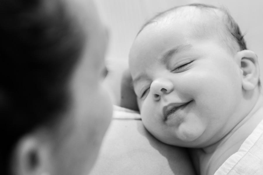 Foto bebé con sonrisa