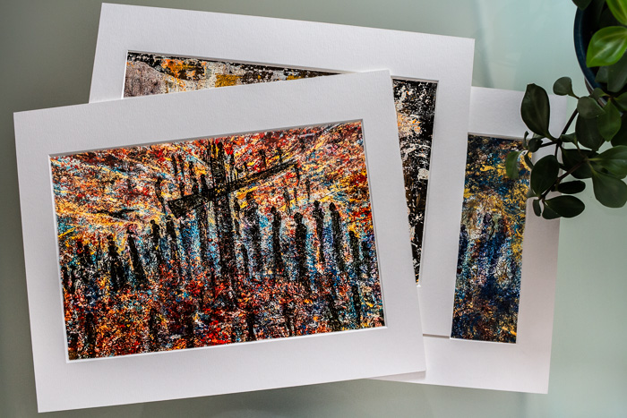 24 DEDICATED AND SIGNED PRINTS - Printed with ink in 20x30cm size in a quality Watercolour paper 280 g