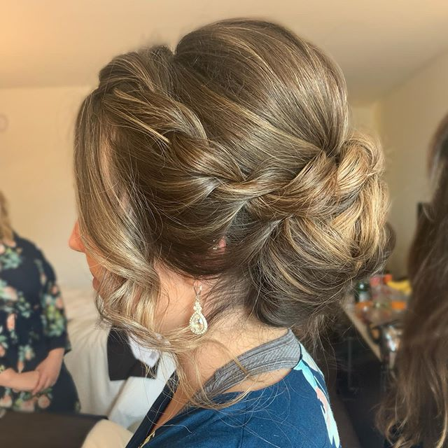Big voluminous updo from today's wedding!!