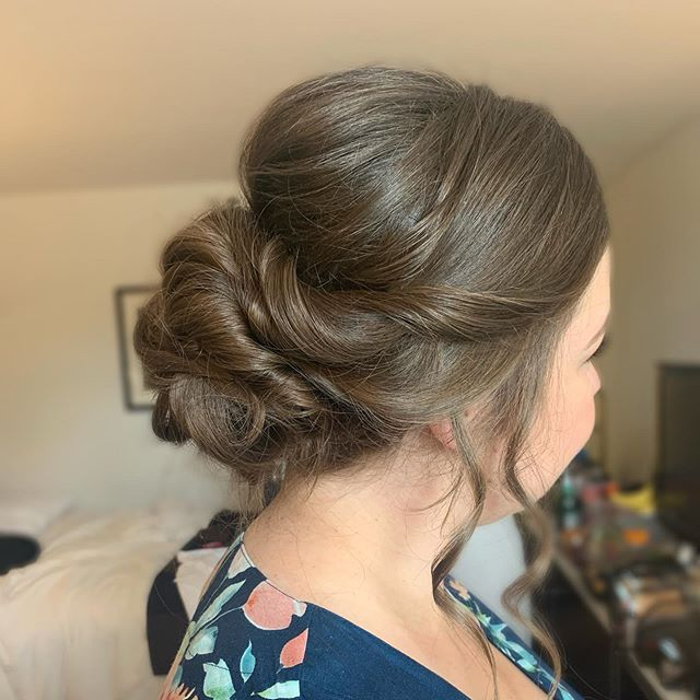 Bridesmaid updo from last Friday's wedding! Makeup by the talented @jillsollarsmakeup