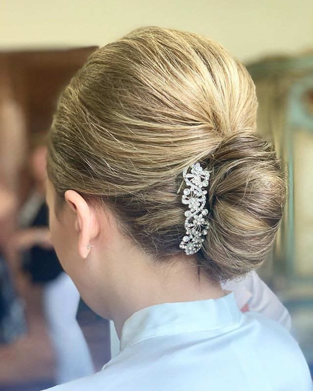 Classic, timeless, French twist.