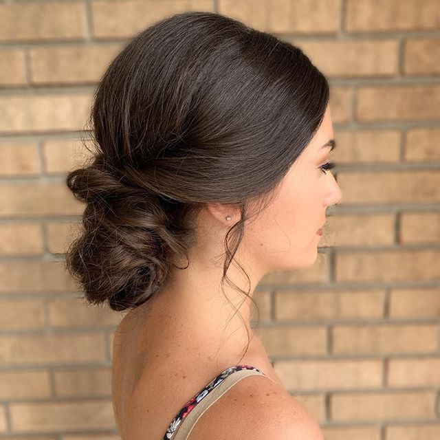 Can't go wrong with a loose chignon!
