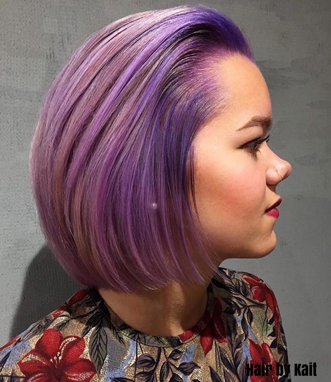 Purple Hair by Kait