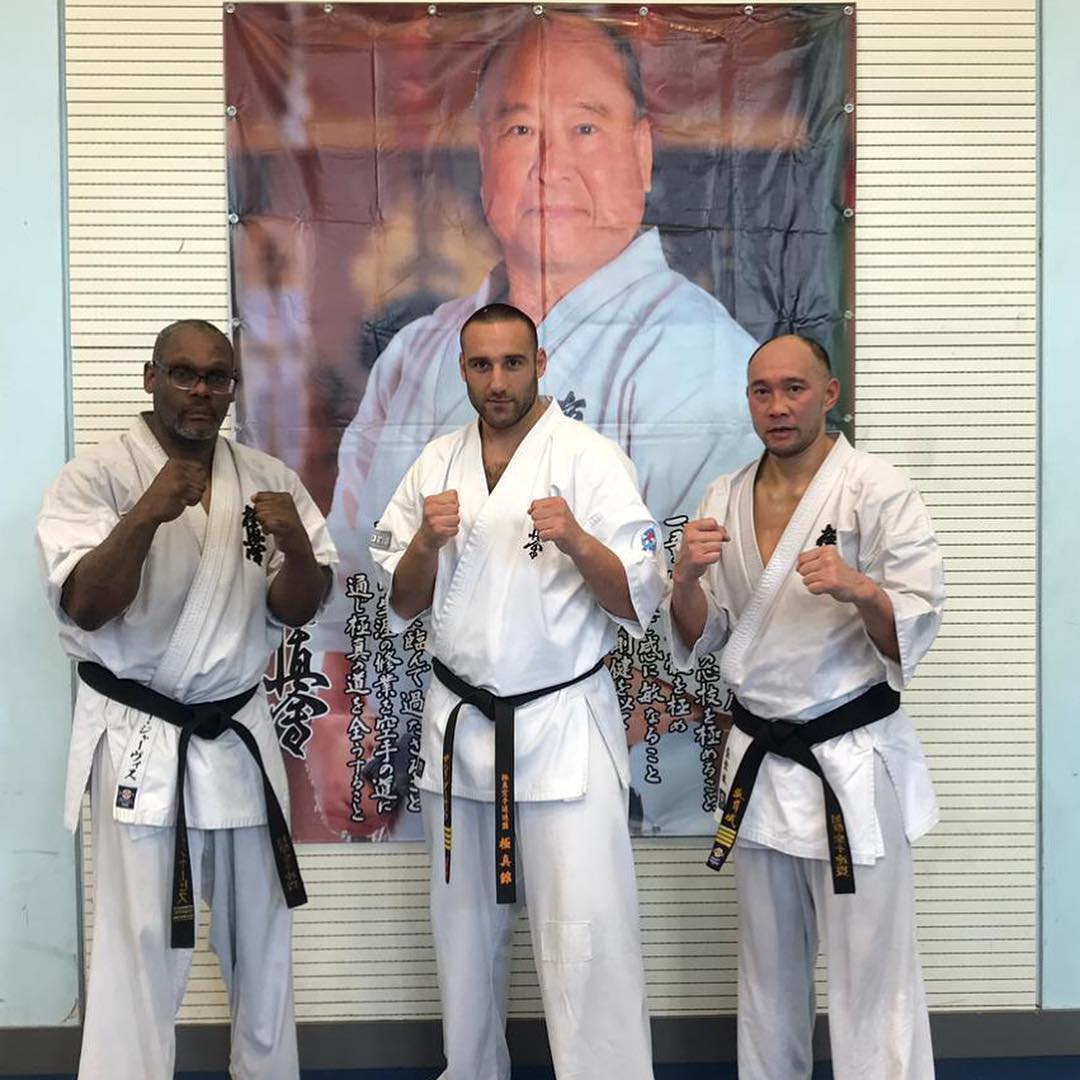 Sensei Zarahi Damyanov with BKK National Coaches Sensei Kenny Jarvis, and Sensei Wai Cheung