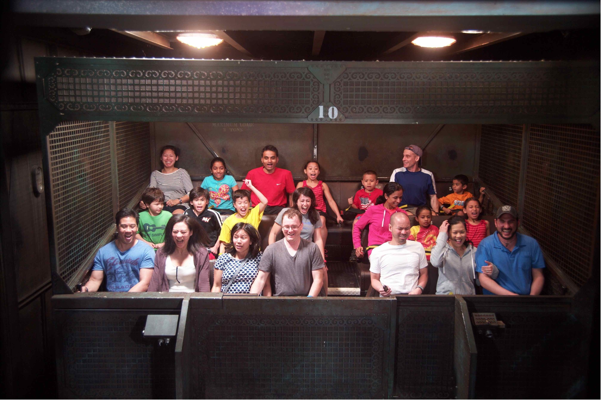11 family members on Tower of Terror